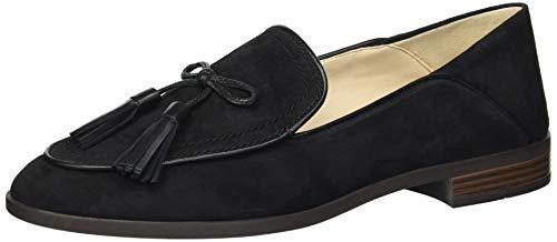 Cole Haan Women's Pinch Soft Tassel Loafer Flat, Black Suede, 6 B US