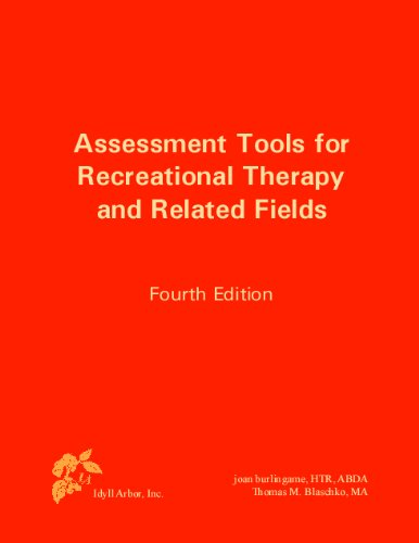 1882883721 - Assessment Tools for Recreational Therapy and Related Fields, 4th Edition