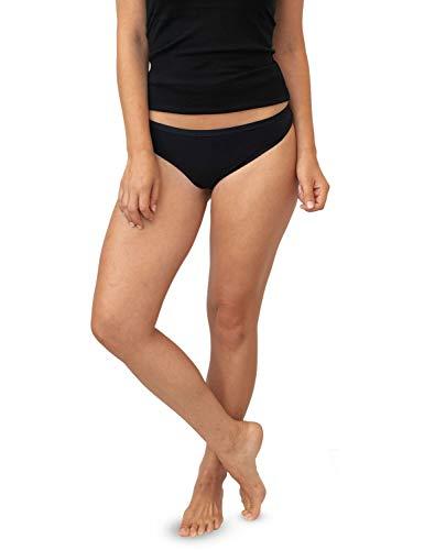 Wool Knickers - WoolX Kylie - Merino Thong - Lightweight & Breathable Wool Underwear for Women - BLK - MED