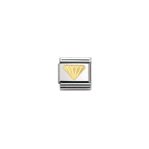 Nomination 030115 - Maillon pour bracelet composable - Femme - Acier inoxydable et Or jaune 18 cts