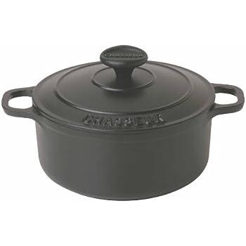 Paderno World Cuisine 7.125 Inch Black Round Dutch Oven