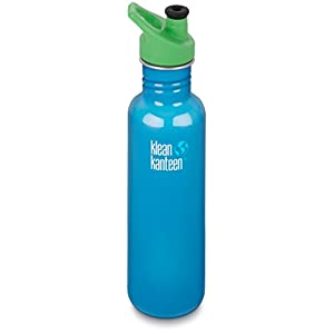 Klean Kanteen 27 oz Stainless Steel Water Bottle with Sport Cap 3.0 in Bright Green - Channel Island