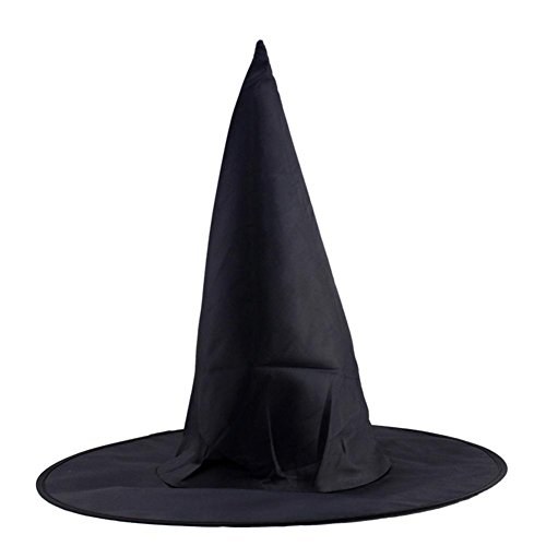 Witch Mini Glitter Top Hat (Halloween Hat, DRACLE Adult Womens Black Witch Hat for Halloween Party Costume Accessory (1Pcs Black D))