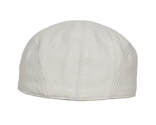 blanco hombres plana ingl cuero gorra Para 5zPx7n5F