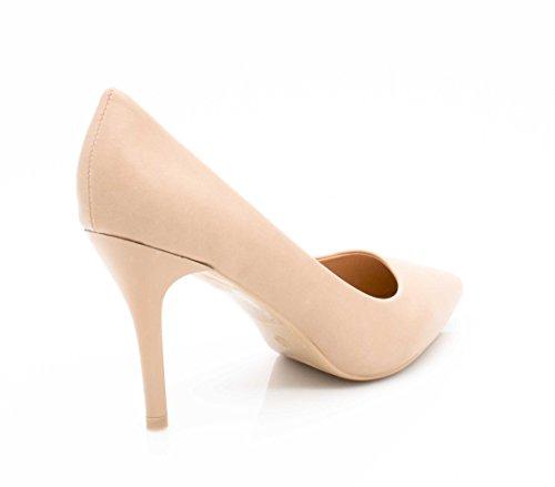 Beige Shoes Chic Couleur 9cm Haut Mode Chaussures Cérémonie Escarpin Mariage Escarpin et Talon Talon et Fashion Escarpin Très pour Femme uni la à Femme Fin Swqx8WdH