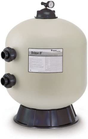 4.91 Square Feet Pentair 140315 Triton C High Capacity Fiberglass Side Mount Sand Pool Filter without Valve or Unions 98 GPM Residential