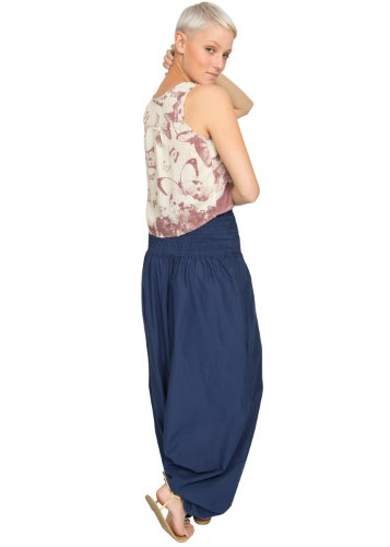 9caa8f3636 likemary 2 in 1 Convertible Cotton Maxi Harem Pants and Jumpsuit ...