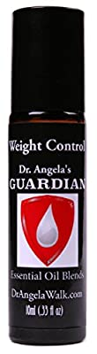 Dr. Angela's Weight Control Essential Oil Blend, Therapeutic Grade Aromatherapy Roll-On Bottle 10ml (.33 fl oz)
