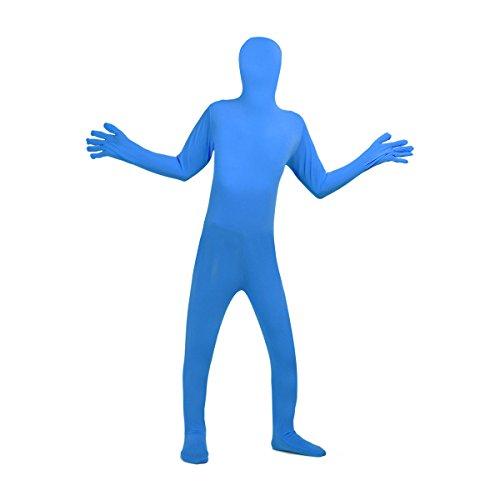 YiZYiF Adult Spandex 2nd Skin Tight Unitard Full Bodysuit Zentai Costumes Blue Large