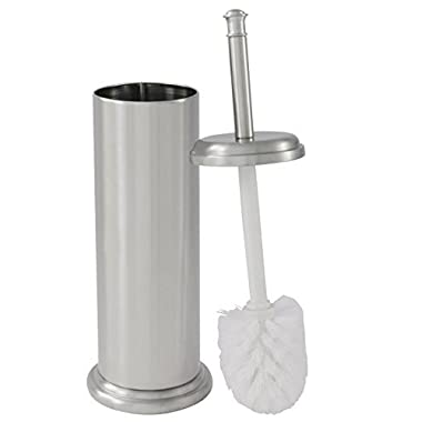 LDR Toilet Brush with Canister Brushed Nickel Finish