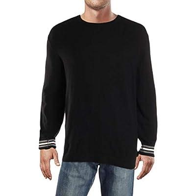 Calvin Klein Mens Crewneck Striped Pullover Sweater