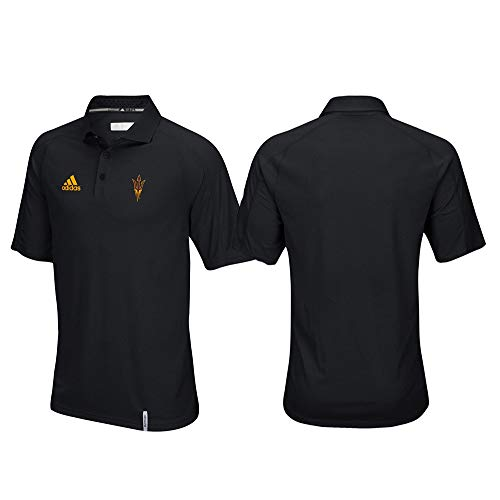 (adidas Arizona State Sun Devils NCAA Men's Sideline Climachill Performance Black Polo Shirt)