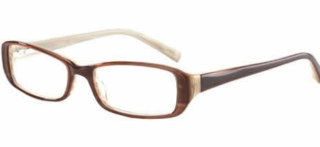 Jones New York Eyeglasses J719 Brown Stripe :: DEMO LENS