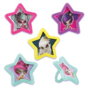 Novi Stars Cupcake Rings -