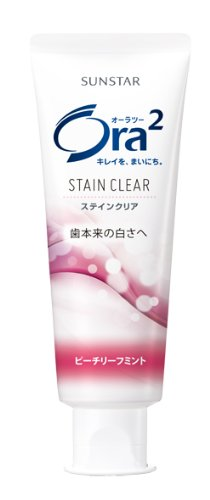 Ora2 (Ora2) Stain clear paste (Peach leaf mint) (standing tube) 130g (quasi-drugs) by Sunstar