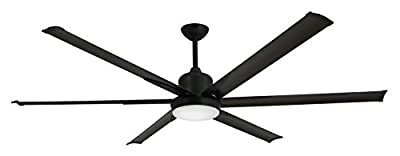 """TroposAir Titan Oil Rubbed Bronze Large Industrial Ceiling Fan with DC-Motor, 72"""" Extruded Aluminum Blades, Integrated Light and Remote"""