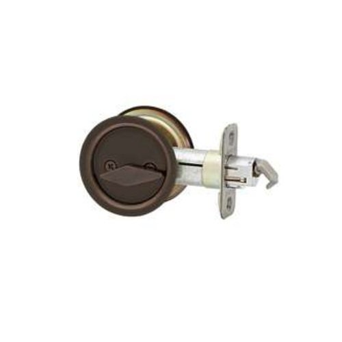 Bath Pocket Door Lock - KWIKSET ORGL88757 Door Lock, Oil Rubbed Bronze