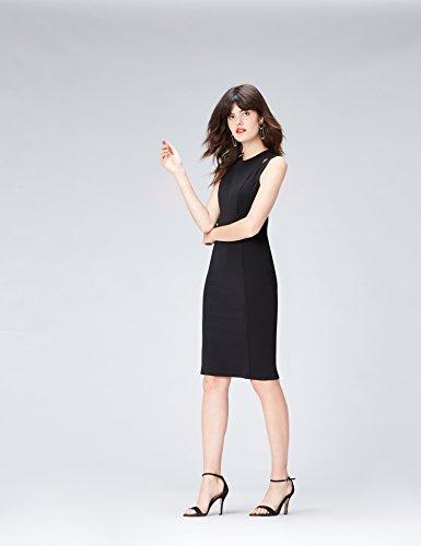 Mujer Ajustado Para Vestido Negro Find black Con Aberturas ORx7w5np