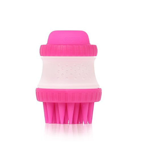 Dexas ScrubBuster Silicone Dog Washing Brush with Built-in Shampoo Reservoir, - Buster Scrub