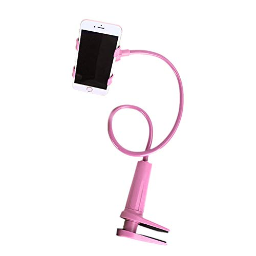 ❤️Jonerytime❤️Flexible 360 Clip Mobile Cell Phone Holder Lazy Bed Desktop Bracket Mount Stand (Pink)