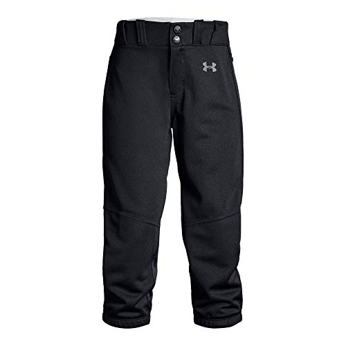 Under Armour Girls Softball Pants, Black, Youth Large