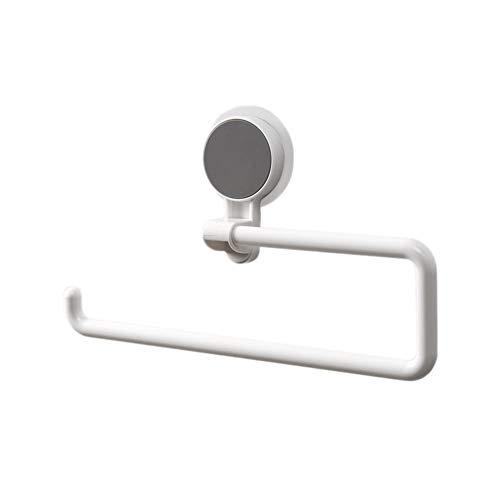 (dxS8hhuo Tissue Storage   Modern Wall Mount Towel Rack Tissue Paper Hanger Holder Home Bathroom Decor - White)