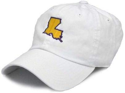 STATE TRADITIONS LA Baton Rouge Gameday Hat in White