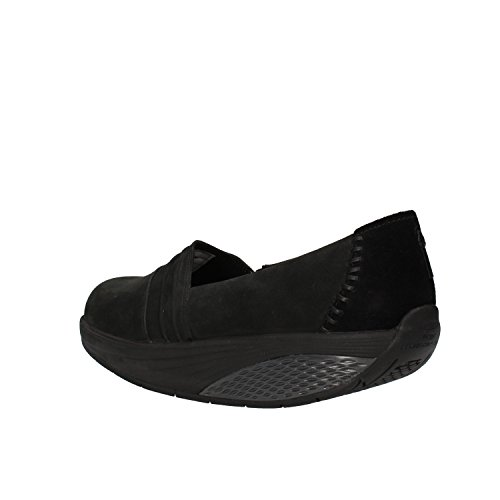 MBT Slip On Mokassins Damen 4 UK/37 EU Schwarz Wildleder Nubukleder