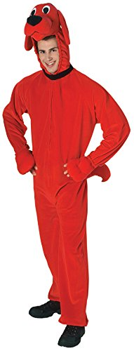 [UHC Unisex Plush Clifford Funny Comical Theme Party Adult Halloween Costume, OS (Up to 44)] (Adult Clifford Costumes)