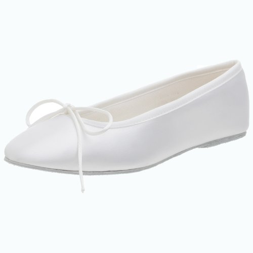 Touch Ups Women's Ballet Dyeable Flat,White,6.5 M