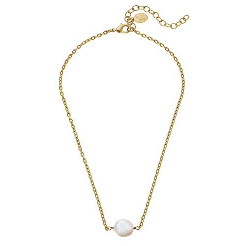 San Coins Antonio Gold (Susan Shaw Delicate Coin Pearl Necklace)