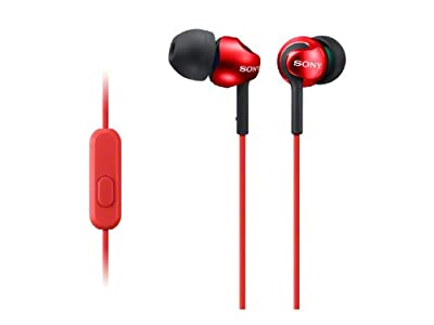 Sony MDR-EX110AP In-Earphone (with In-line Microphone) - Red