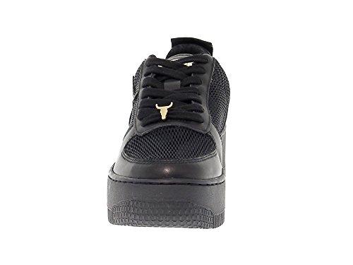 WINDRACERRTN Donna Pelle Smith Windsor Nero Sneakers qAwRR6