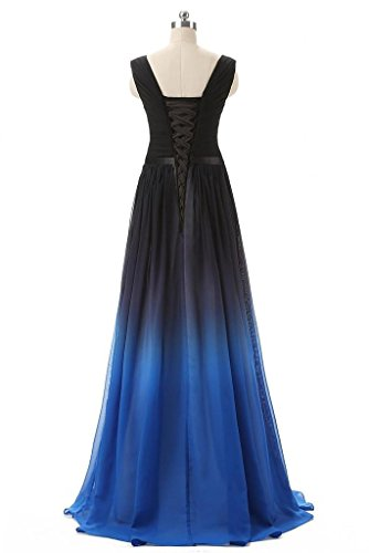 Dresses Long V Bridesmaid Bridal Gowns Aurora neck Evening Chiffon Ocean Prom aqp6IC
