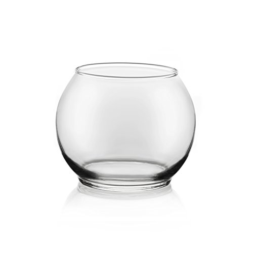 Libbey Bubble Ball 12-piece, 4-inch Footed Glass Bowl Set Footed Centerpiece Bowl
