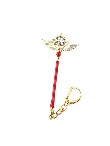 Price comparison product image Cardcaptor Sakura Keychain Key Ring Anime Manga TV Comics Movies Cartoon Superhero Logo Theme Premium Quality Detailed Cosplay Jewelry Gift Series