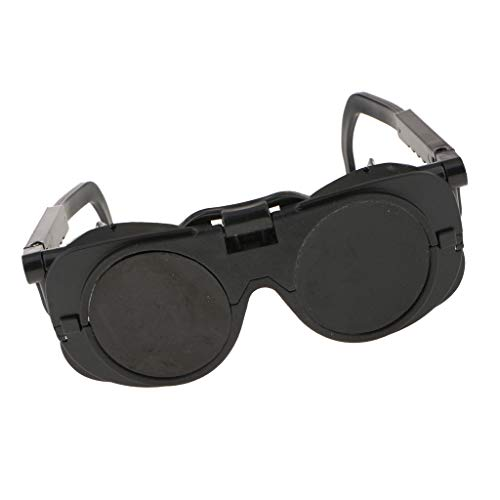 溶接メガネ 二重保護 溶接機 切断 安全メガネ ブラック