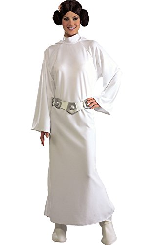 Rubie's Women's Star Wars Princess Leia Deluxe Costume, One (Luke Skywalker And Princess Leia Halloween Costumes)