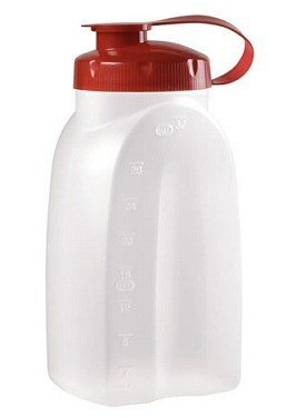 Servin Saver Bottle (Rubbermaid 1776348 1 Quart Servin' Saver® White Bottle)