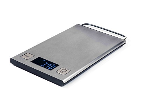 Digital Touch Activated Smart Pro Multifunction Kitchen Food Scale 11.4 LB With Large LCD Display Stainless Steel With Stylish Hanging Hook (Batteries Included) (Point Scale)