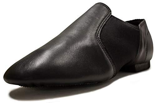 ARCLIBER Leather Upper Slip-On Jazz Shoes for Women Men Boy Girl -