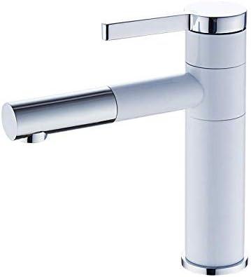 CLJ-LJ 洗面所やバスルームのシンクシングル盆地ホットとコールドのすべての銅ホワイト洗面上記カウンタ用浴室タップ絶妙な流域ミキサータップ盆地 - Aセクション