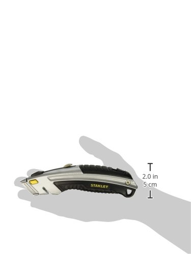076174107883 - Stanley 10788 Curved Quick-Change Utility Knife, Stainless Steel Retractable Blade, 3 Blades carousel main 2