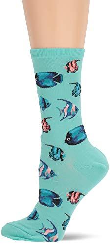 - Hot Sox Women's Animal Series Novelty Casual Crew Socks, Tropical Fish (Jade), Shoe Size: 4-10