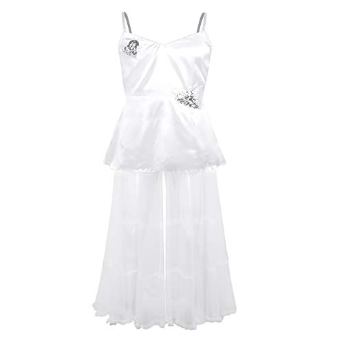 Runaway Bride Costumes Halloween - iEFiEL Adult Mens Satin Tulle Dress