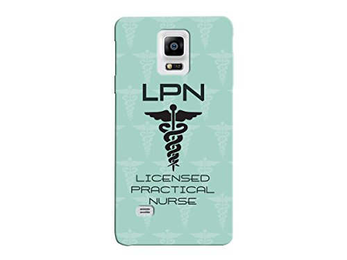 LPN Licensed Practical Nurse Green Background Medical Wing Snake Symbol Picture Phone Case for the Samsung Note 5 - Medical Pattern Cases