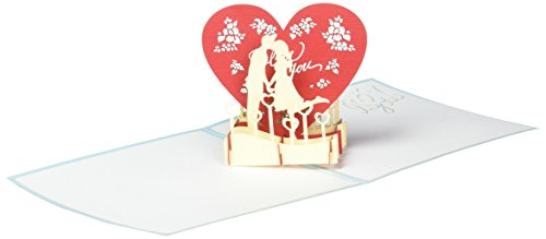CHAO - UNFOLDED MEMORIES Greeting Card, Couple Kissing (3d Card Heart)