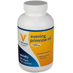 The Vitamin Shoppe Evening Primrose Oil 1,300MG, Natural Source of GLA (Gammia Linolenic Acid), Supplement for Women's Health Hormonal Balance (120 Softgels)