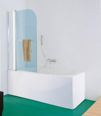Pare bañera a una Puerta Con empuñadura para cristal Securit 6 mm antical Profile aluminio: Amazon.es: Bricolaje y herramientas