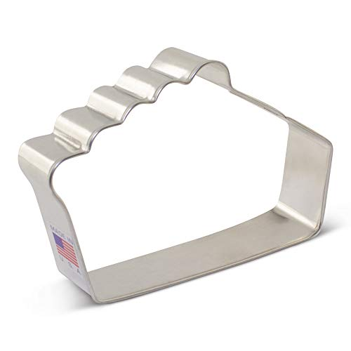 Pie Slice Cookie Cutter - 4.5 Inch - Ann Clark - USA Made Steel